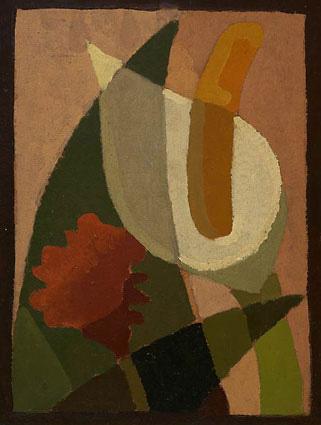 Cala y flor, Óleo sobre cartón, 30,1×23,1cm, c.1930-1935