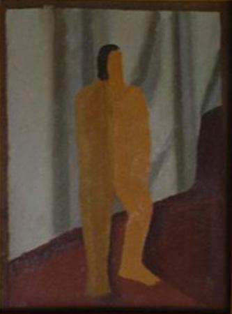 Figura, óleo sobre cartón, c.1930-1935