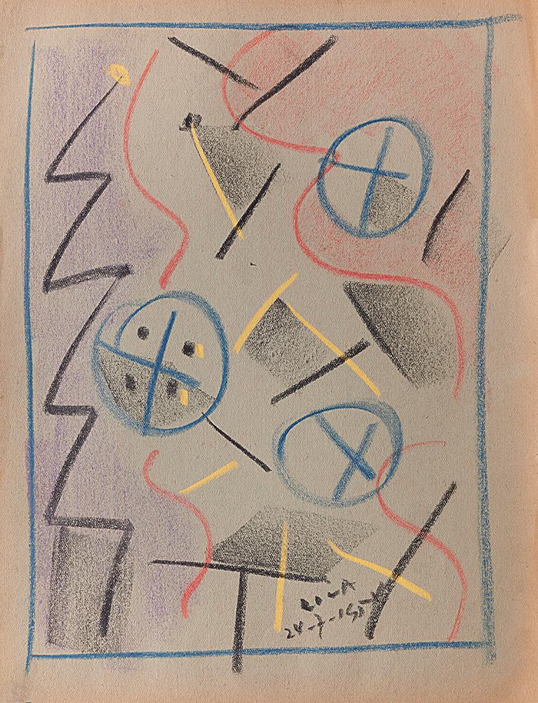 Pastel sobre papel, 30x23cm, 24-7-1954