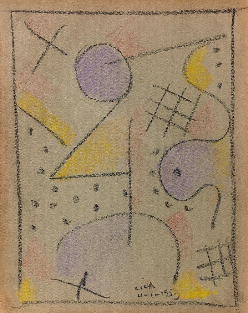 Pastel sobre papel, 29x23cm, 4-1-1953