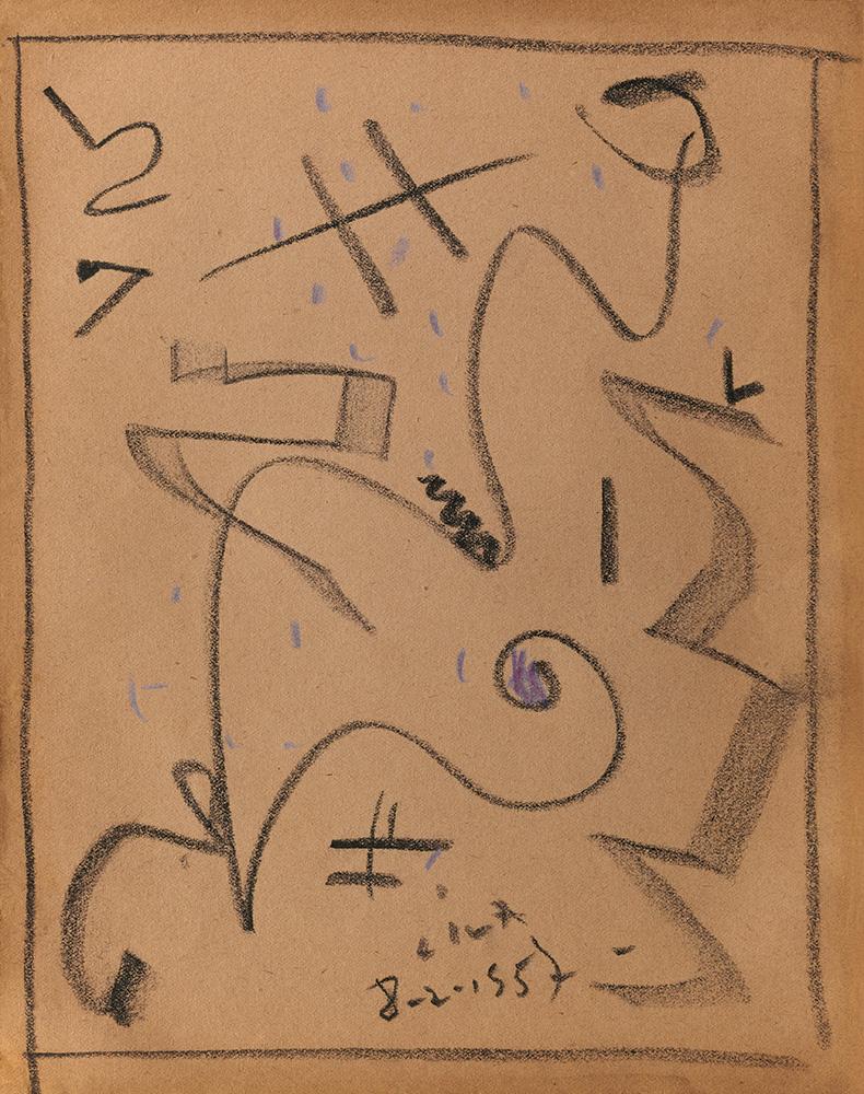Pastel sobre papel, 29x23cm, 8-2-1957