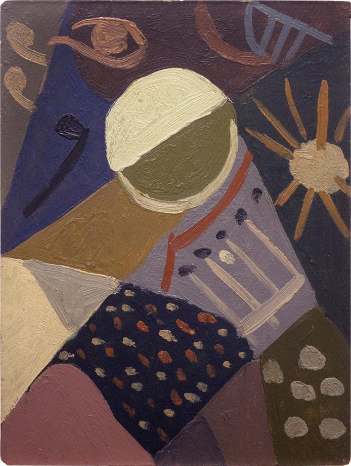 Composición, óleo sobre cartón, 30x23cm, 1941-1945