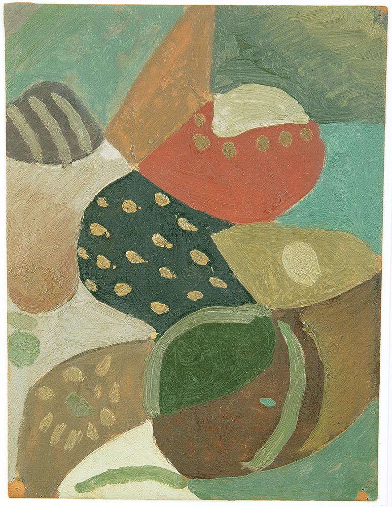 Composición, óleo sobre cartón, 30x23cm, c.1941-1944