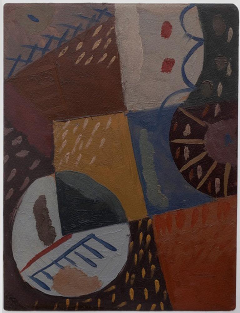 Composición, óleo sobre cartón, 30x23cm, c.1941-1945