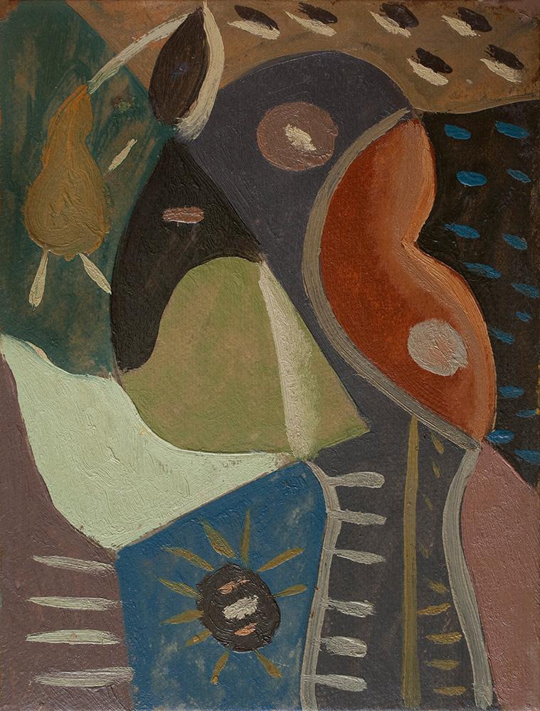 Composición, óleo sobre cartón, 30x23cm, c.1942