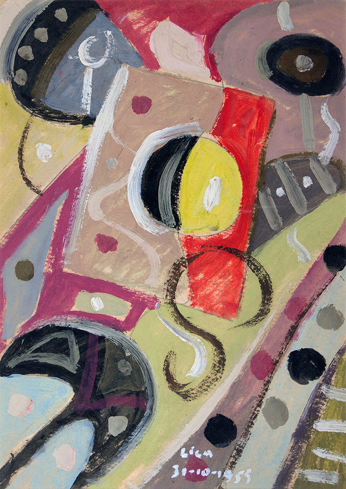 Óleo sobre cartón, 35×24,8cm, 31-10-1953