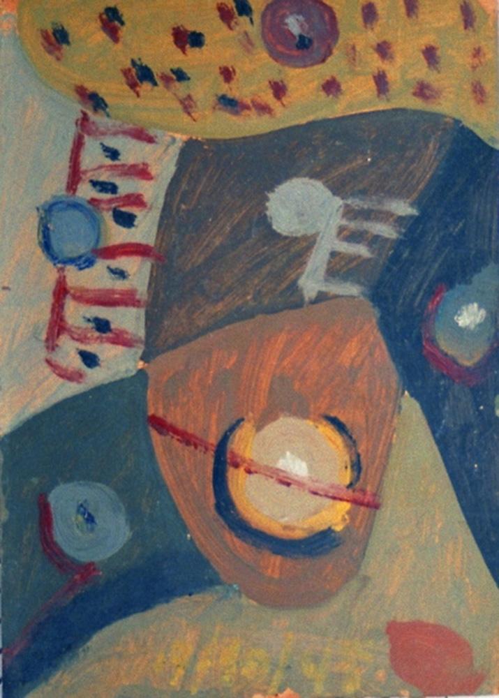 Composición, Óleo sobre cartón, 24 x 22 cm, 17-10-1948