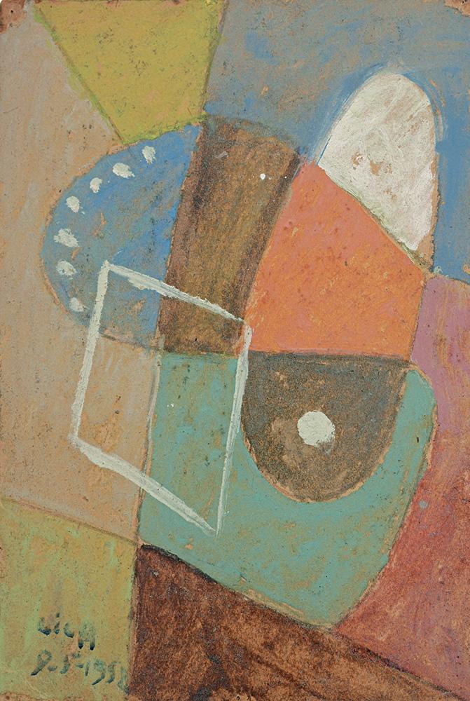 Composición, Óleo sobre cartón, 27 x 18.5 cm, 08-05-1952