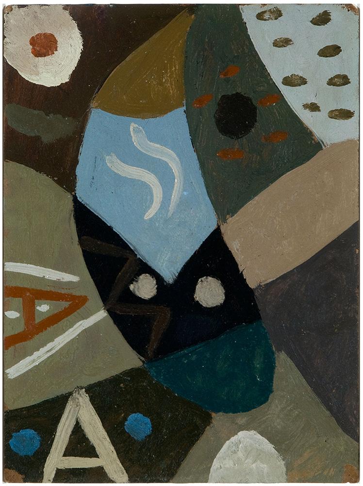 Composición, Óleo sobre cartón, 30 x 23, c. 1941-45