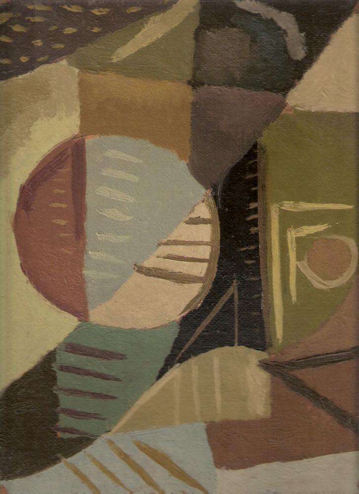 Composición, Óleo sobre cartón, 30 x 23 cm, c. 1941-45