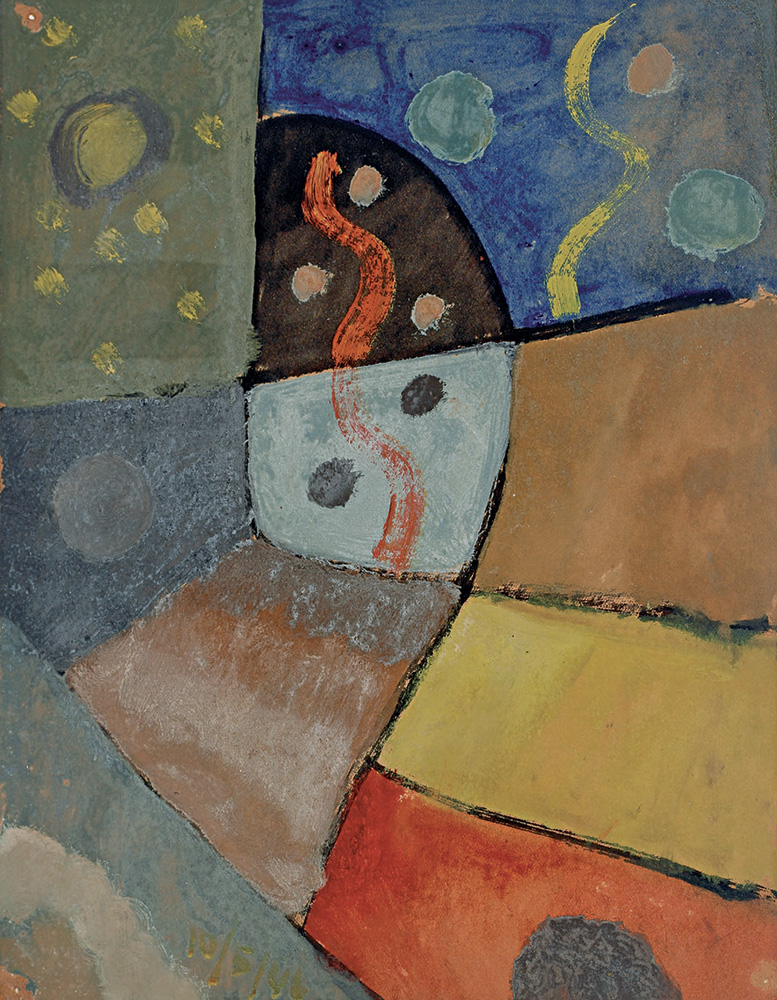 Composición, Óleo sobre papel,  30 x 23 cm, 10-05-1946